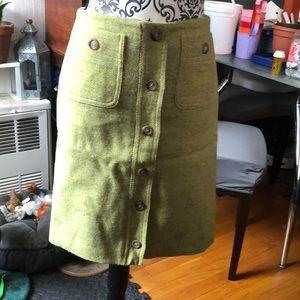 Lime Wool Kors Skirt